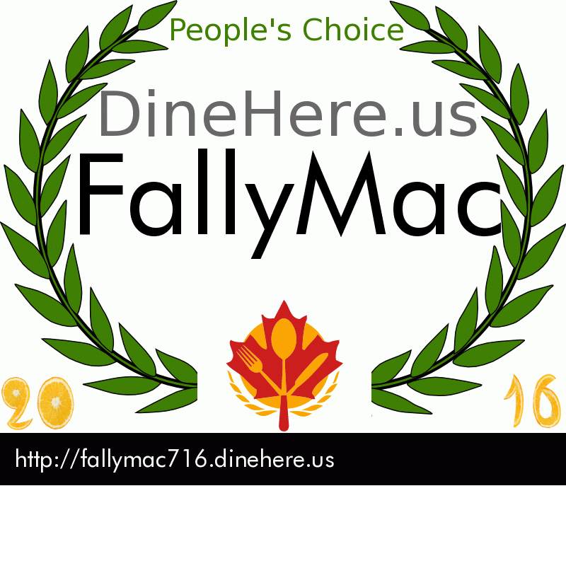 FallyMac DineHere.us 2016 Award Winner