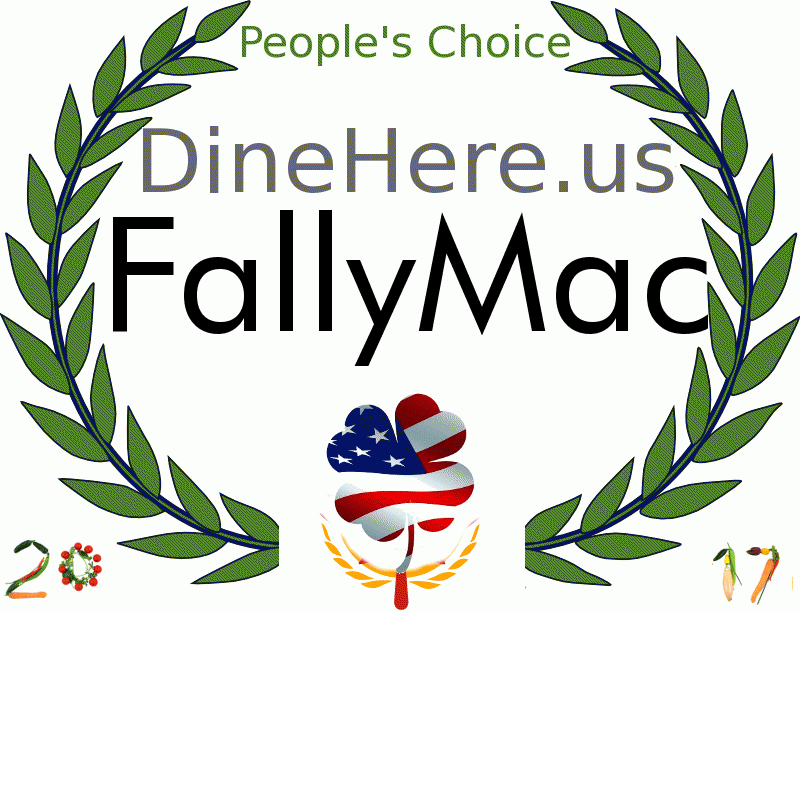 FallyMac DineHere.us 2017 Award Winner
